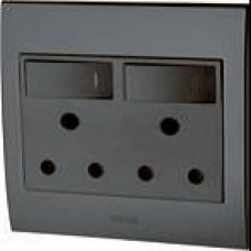 Double Plug Socket LED Backlit
